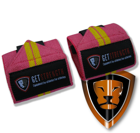 GS Pink Wrist Wraps 12 Inch (pair)