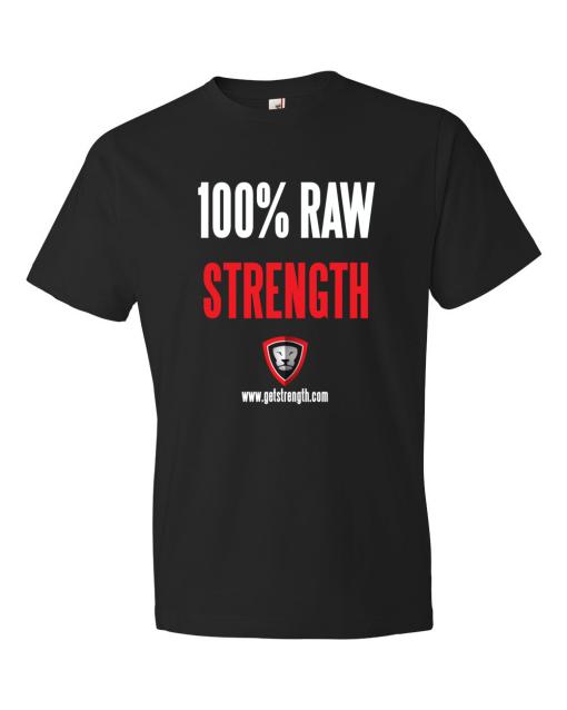 Getstrength Lightweight Short Sleeve T-Shirt 100% Raw Strength
