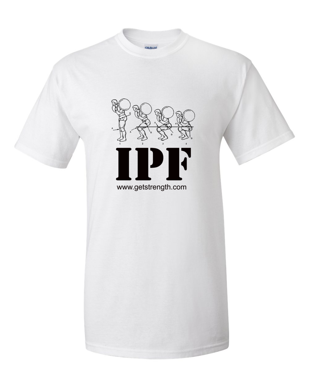 3282a0a8 IPF Powerlifting Training T-Shirt White - Light | Online Personal ...