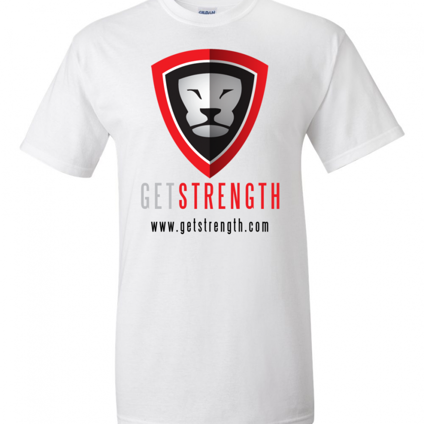 Getstrength T-Shirt (White) - Light
