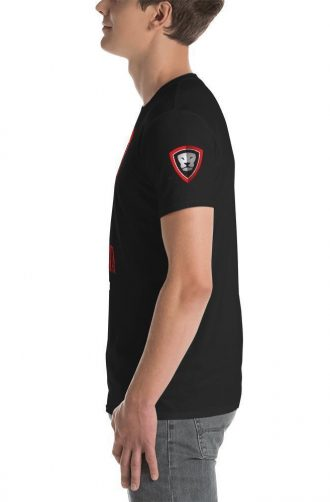 GS T-Shirt with logo on sleeve.